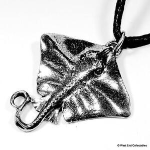 Stingray fishing charm pendant necklace uk made whiptail manta image is loading stingray fishing charm pendant necklace uk made whiptail mozeypictures Images