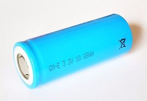 GM-E LiFePo4 3,2V 26650 3,4Ah Akku Zelle IFR26650 3400mAh