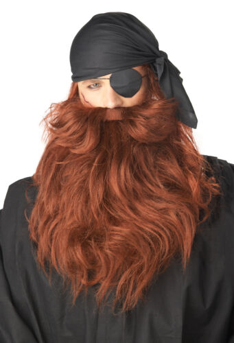 Buccaneers Pirate Captain Hook Moustache /& Beard Adult Costume