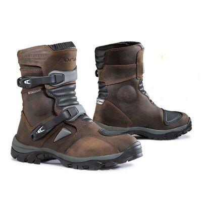 Forma Adventure Low Waterproof Leather Motorcycle Motorbike Boots Brown 48