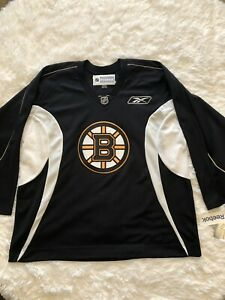 half off b3326 f316b Details about Reebok CCM BOSTON BRUINS Practice (XXL) Hockey Jersey New  With Tags BLACK