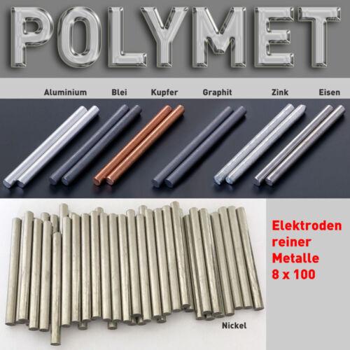 10 CM x 8 mm per rame elettrolitici galvanica 99,9/% RAME-Stab-elettrodo anodo