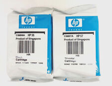 2PK Genuine Ink Cartridge HP 56 57 Set For C6657A C6656A PSC 2510 2410 2210