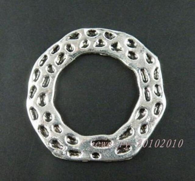 10pcs Tibetan Silver Big Ring Connectors 48x2mm zn13094