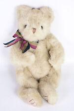 "Ty Classic Baby Spice Teddy Bear 11"" Plush Tan Stuffed Animal Bow 1995 Byby 5104"