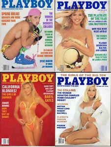 PLAYBOY-1991-Lot-of-4-College-Girls-James-Jones-Fiction-Daryl-Gates-Tai-Collins