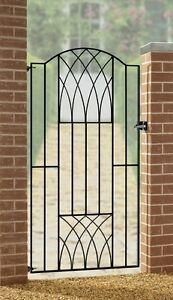 Verona-Modern-Tall-Garden-Gate-850-to-990mm-Gap-x-1800mm-H-Galvanised-Iron-Metal