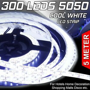 5m-Flexible-Bright-LED-Strip-Lights-12V-Waterproof-5050-SMD-300-LEDs-Cool-White