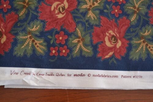 Moda//Kansas Troubles//Vine Creek//9270 M8399 By 1//2 Yd Red Green Navy Quilting
