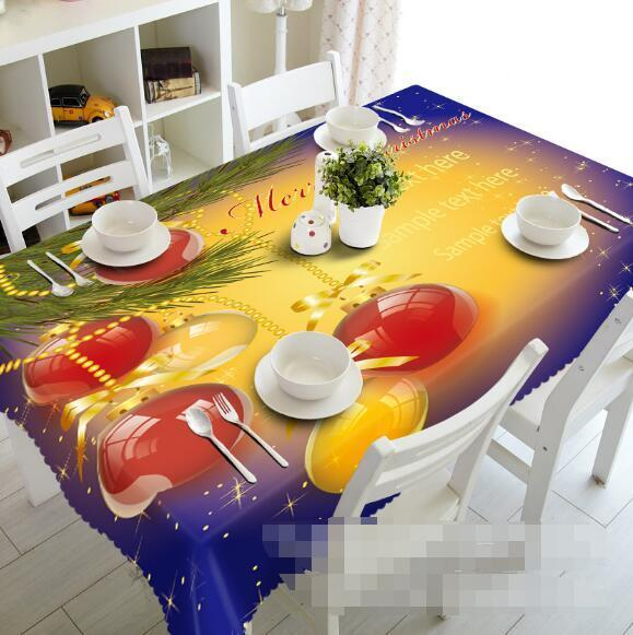 3D Christmas 235 Tablecloth Table Cover Cloth Birthday Party Event AJ WALLPAPER