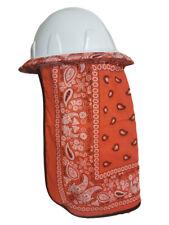 Neck Protector For Hard Hat Neck Shade Bandana Orange New Design Double Layered