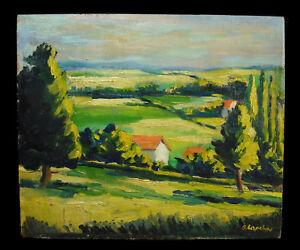 Georges Lapchine (1885-1950/51) Paysage & Maisons Dans La Vallée Landscape C1930 êTre Hautement Loué Et AppréCié Par Le Public Consommateur