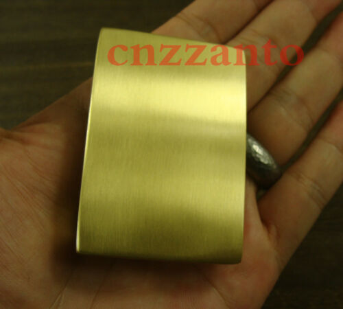 Solid Brass Belt Buckles rectangle plain Plate Classical for 38mm belt Z154B