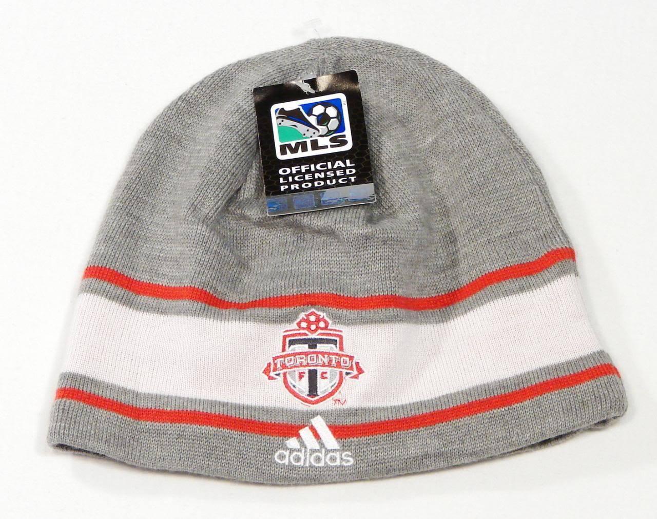 Adidas MLS Toronto FC Football Club Beanie Knit Beanie Club Skull Cap Adult One Size NWT 18867b