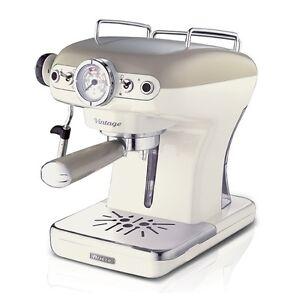 Macchina-caffe-espresso-Ariete-Vintage-caffe-beige-cappuccinatore-1389-Rotex