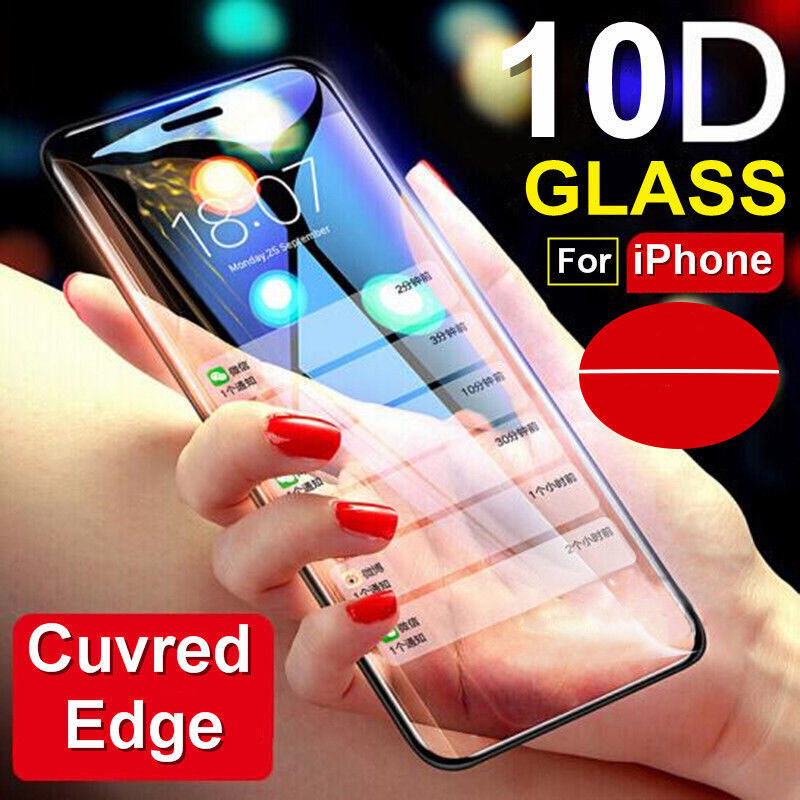 For IPhone X XS MAX XR 8 7 6 10D Full Cover Real Tempered Gl