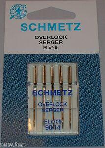 Schmetz ELX705 Universal Overlock Serger Sewing Needles 5 Pack