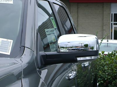 Fits Dodge Ram 2009-2017 Tow Mirrors ABS Chrome Mirror Covers With Turn Signal