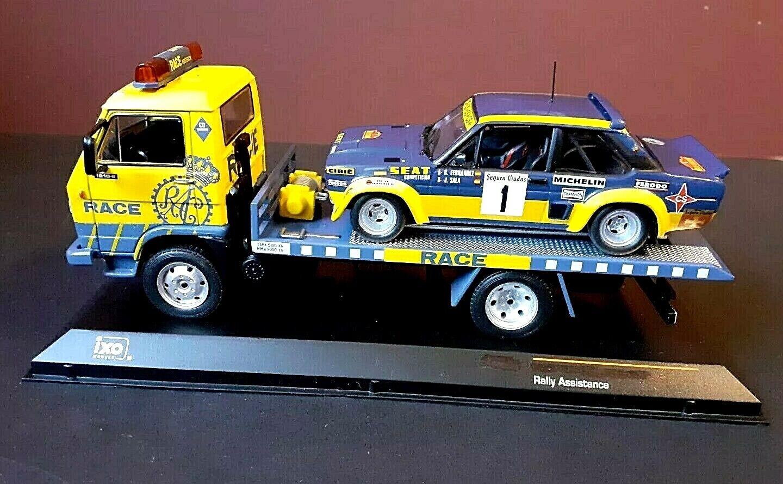 1 43 ALTAYA IXO PEGASO EKUS (VW LT) CAR TRANSPORTER & WRC rally fiat Abarth