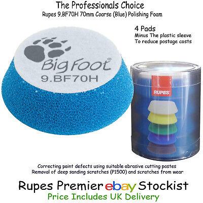 Blue Polishing Foam Pad Rupes 9.BF70H x 4 Ibrid Nano 70mm Coarse