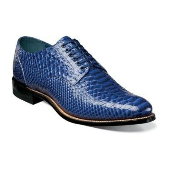 Stacy Adams Madison Anaconda Print Leather Mens shoes bluee 00055-400