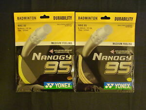 100% YONEX Yonex Nanogy 95 Badminton Racket Racquet String NBG95