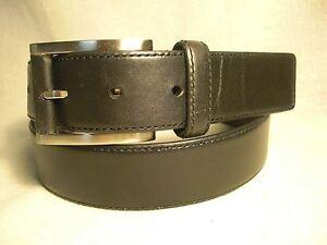 non branded mens black leather dress belt size 36 ebay