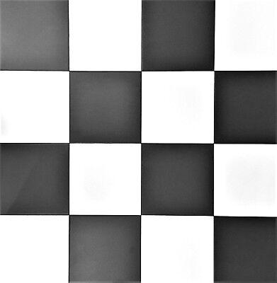 Satin Matte Black White Checkerboard
