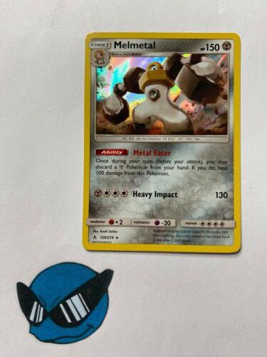 Melmetal 129//214 Holo Unbroken Bonds Pokemon TCG