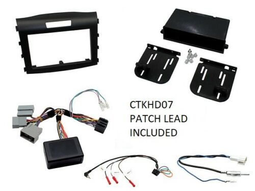 HOND CR-V 2012 ONWARDS BLACK DOUBLE DIN FULL FITTING KIT WITH STEERING CONTROL