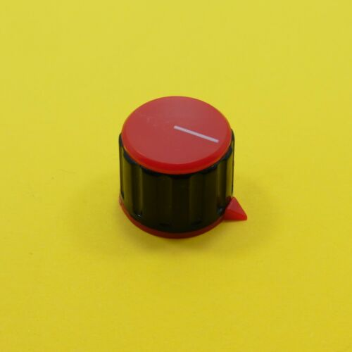 21.4mm Red Plastic Potentiometer Knob Rotary Taper 6mm Shaft Hole Control KN-23