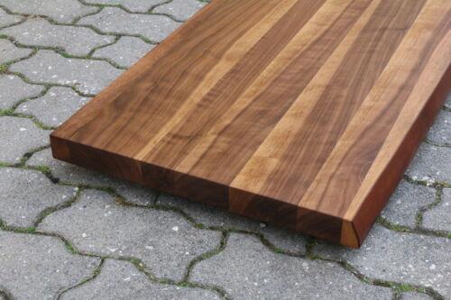 Lavabo plaque de table plaque Noyer Bois Massif avec baumkante nouveau leimholz