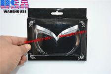 Evil 'M' Rear Trunk Emblem Badge For 04-15 Mazda 3 Mazdaspeed 3 Universal Silver