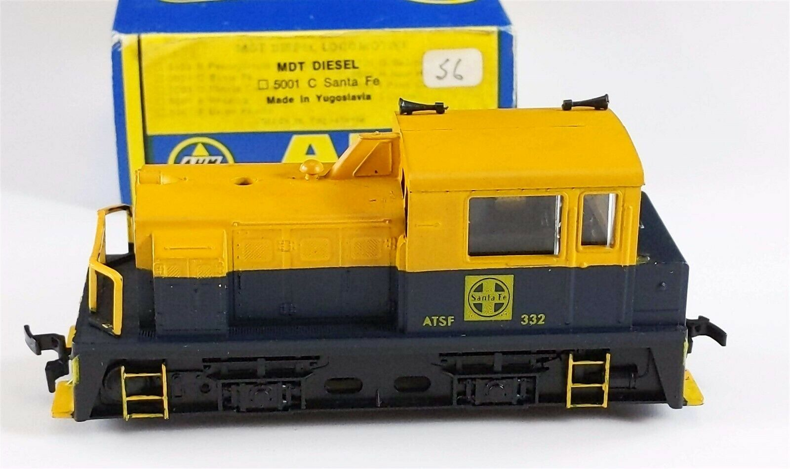 Ahm Rso 5001 C Santa Fe Plymouth Mdt Switcher Diesel Locomotive 332 Ho Scale For Sale Online