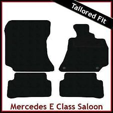 Tailored Carpet Floor Mats for MERCEDES E-Class Saloon W212 2009-2016 BLACK