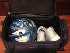 EBONITE ZOOM GLOW Bowling Ball Blue Marbleized Drilled 8Ib 8oz w/ Bag and shoes!