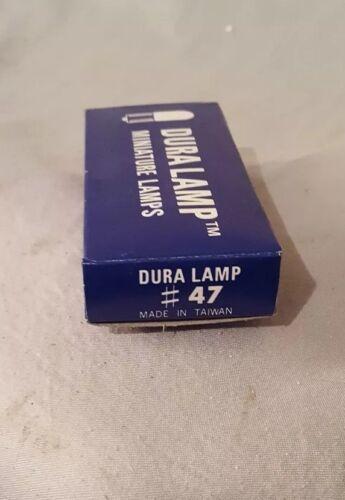 Box Of 10 Miniature Light Bulbs #47 Bayonet Ba9S Base 6.3v .15A Dura Lamp