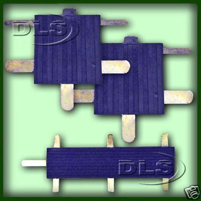 LAND ROVER SERIES 2/3 - 3 piece Pedal Rubber Pad Set (DLS216)