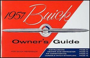 1957 buick owners manual special super roadmaster century owner rh ebay com buick regal owner's manual buick encore owner's manual