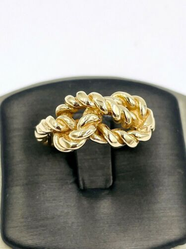 Rare Gucci 18k yellow gold knot ring 9.5sz