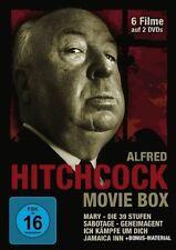2 DVDs * ALFRED HITCHCOCK MOVIE BOX - 6 Filme  # NEU OVP ~