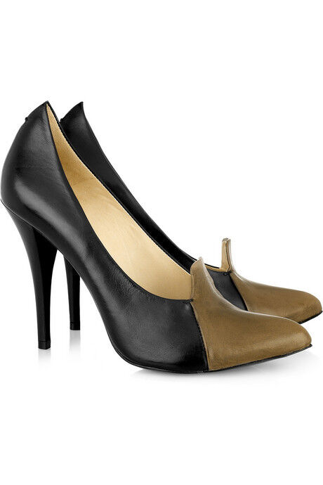 Zapatos De Cuero Cuero Cuero McQ Alexander Mcqueen Colorbock Bombas Talla 40  están haciendo actividades de descuento