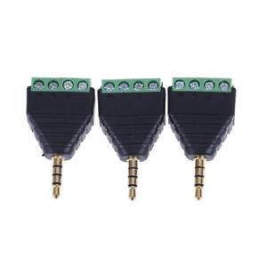 4Pole-Stereo-AV-Screw-Terminal-Jack-3-5mm-Male-4Pin-Terminal-Plug-ConnectorFJ
