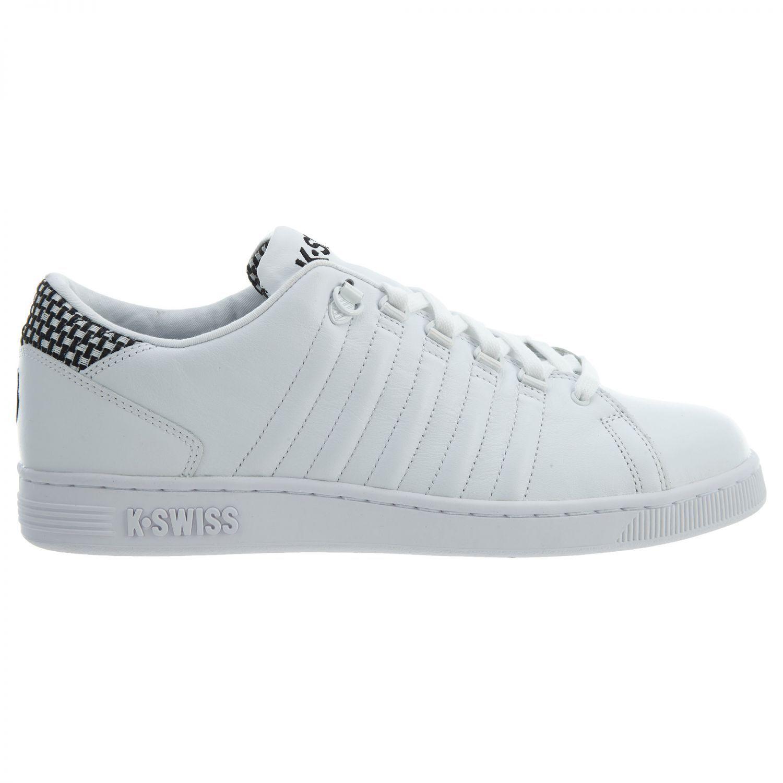 K-Swiss Lozan III TT Mens 05398-002 White Black Leather Athletic shoes Size 7.5