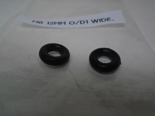 ONE PAIR #/'S 19D LOTUS 52B BRM FRONTS MATCHBOX 12MM O//D THIN BLK PLASTIC TIRES