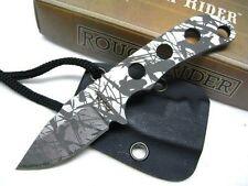 Lot de 3 Couteau de Cou Survie Rough Rider Survival Neck Lame Acier Camo RR1477