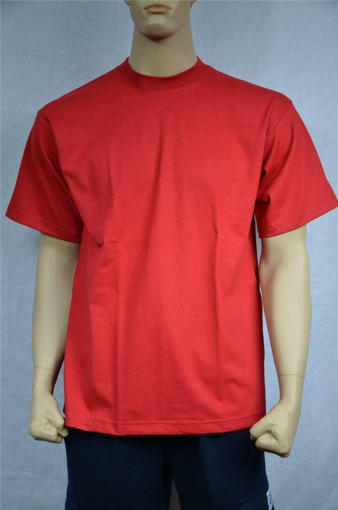 3 NEW SHAKA WEAR SUPER MAX HEAVY WEIGHT T-SHIRTS RED TEE PLAIN 7XL