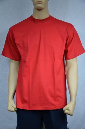 3 NEW SHAKA WEAR SUPER MAX HEAVY WEIGHT T-SHIRTS RED TEE PLAIN 7XL
