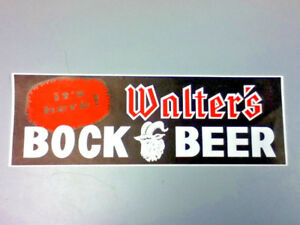 Walter-039-s-bock-beer-sign-bar-signs-1-Wisconsin-poster-old-vintage-brewery-WI-UZ31