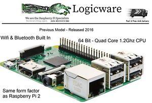 Raspberry-Pi-3-Model-B-1GB-RAM-Quad-Core-1-2GHz-64bit-CPU-WiFi-amp-Bluetooth